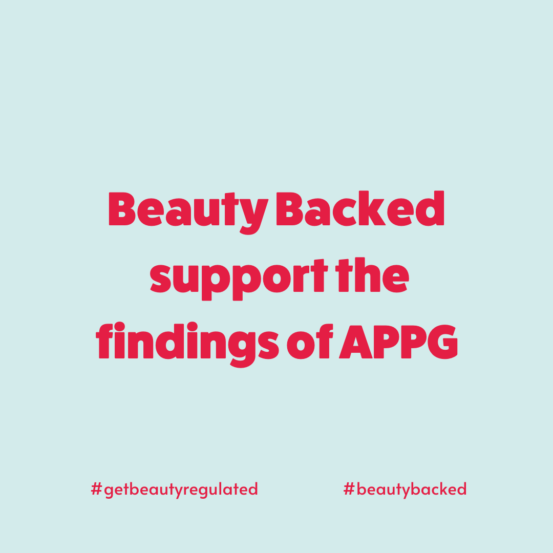 Beauty Backed support the findings of APPG