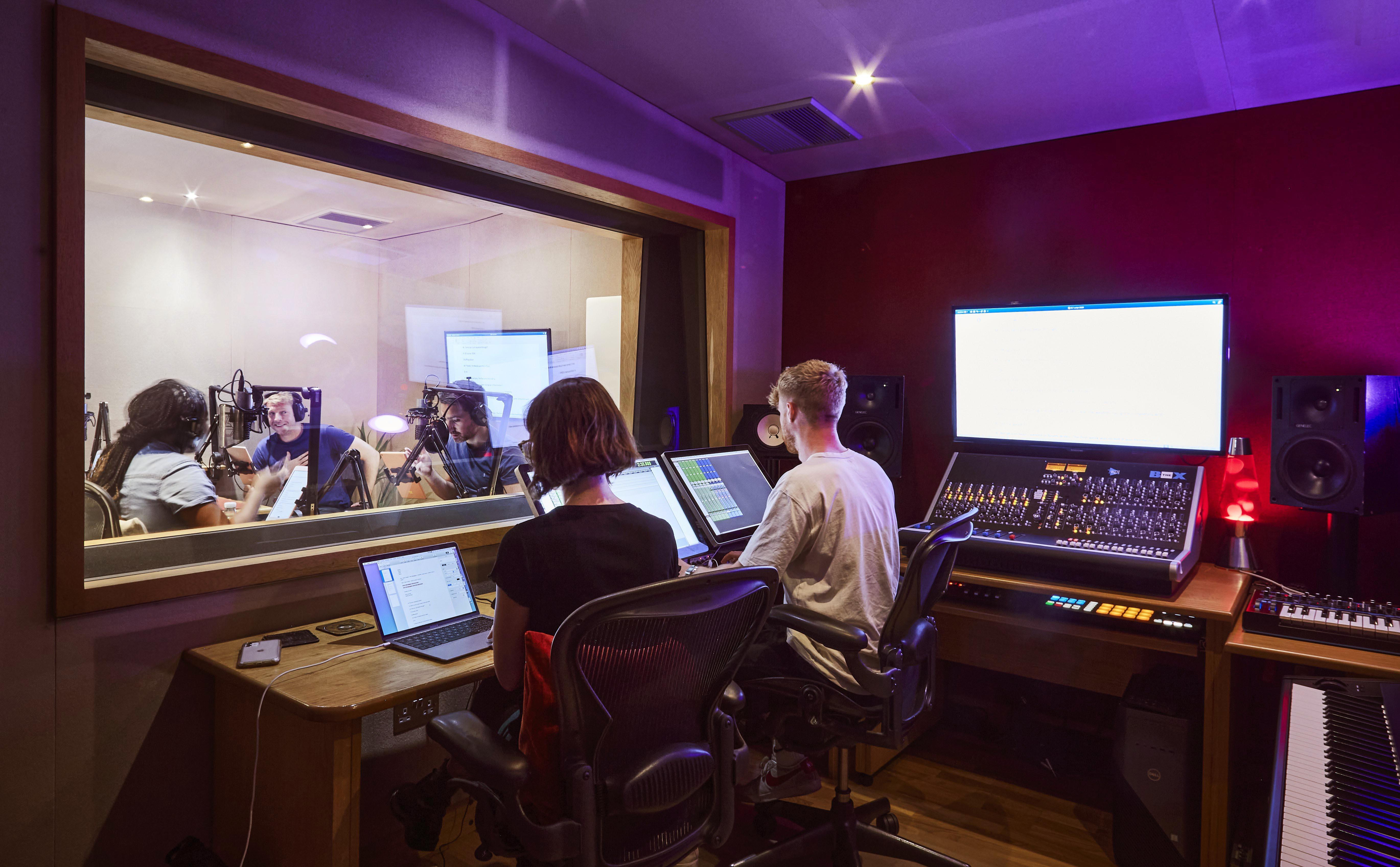 Recording audio in a studio
