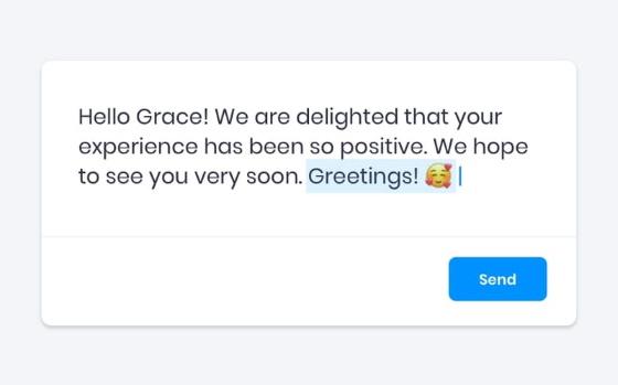 Edit your review replies before sending