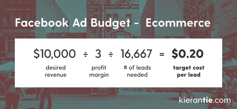 Ecommerce Facebook ads budget