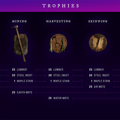 Housing Trophies and Chests