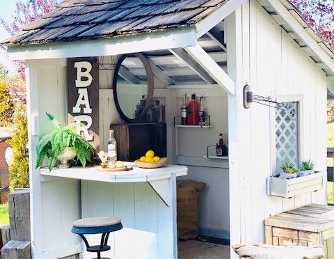 DIY Outdoor Dry Bar