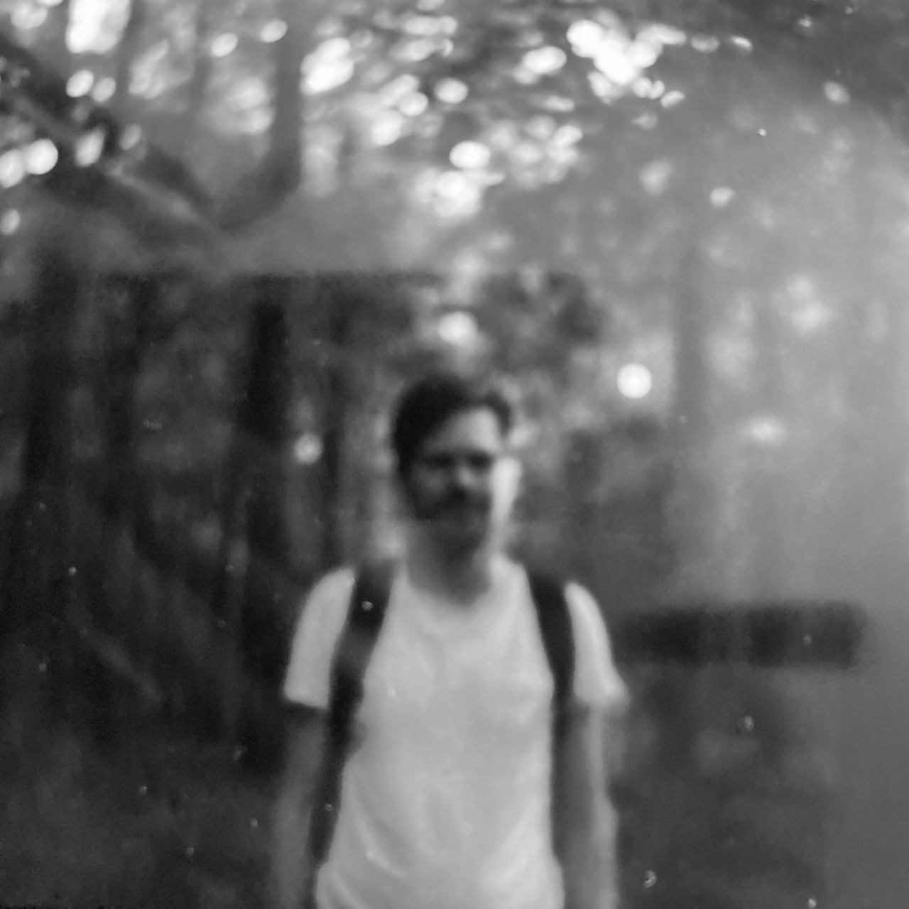Blurry picture of me in Potsdam, Germany