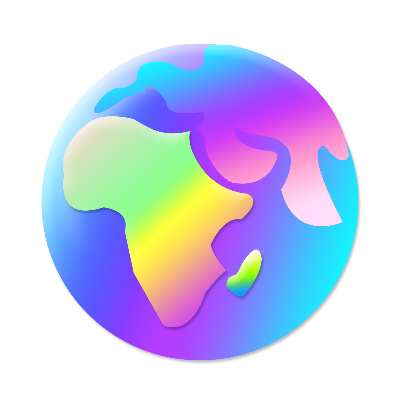 Planète colorée
